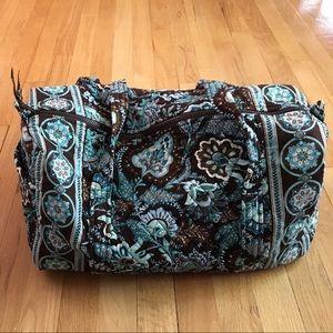 Vera Bradley Retired Java Blue Small Duffle Bag